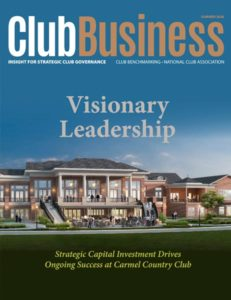 Club Business Cover: Visionary Leadership