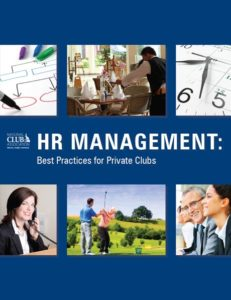 National Club: HR Management: Best Practices for Private Clubs